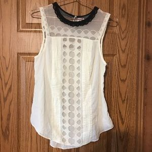 ANTHRO post mark label babydoll lace blouse